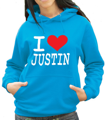 i love justin bieber hoodie. I Love Justin Hoody