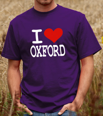 I love oxford unisex t shirt for T shirt printing oxford
