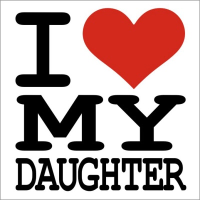 I Love My Daughter Tshirt Simple Pictures I Love My Daughter