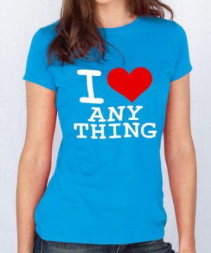 3c9cede6 I Love (Anything) Lady Skinny Fit