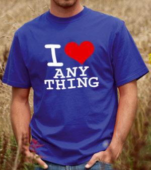 fbb686e6 I Love (Anything) Unisex T-shirt