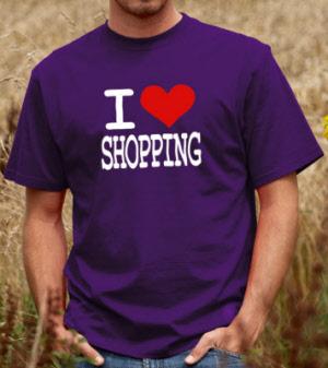 a72dd020 I Love Shopping - Unisex T-shirt